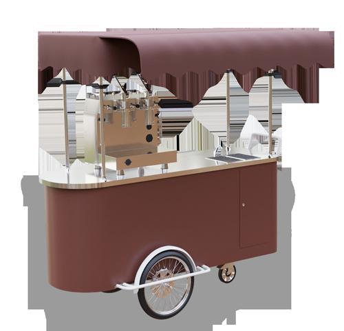 Wózek gastronomiczny z kawą