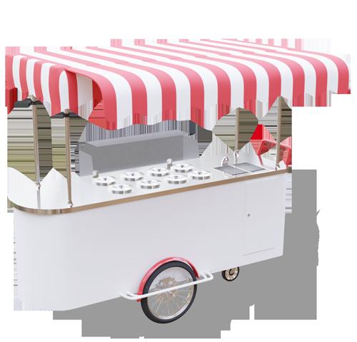 Wózek gastronomiczny do lodów 8 smaków - wersja powiększona
