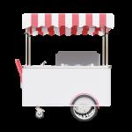 Wózek gastronomiczny do lodów 6 smaków